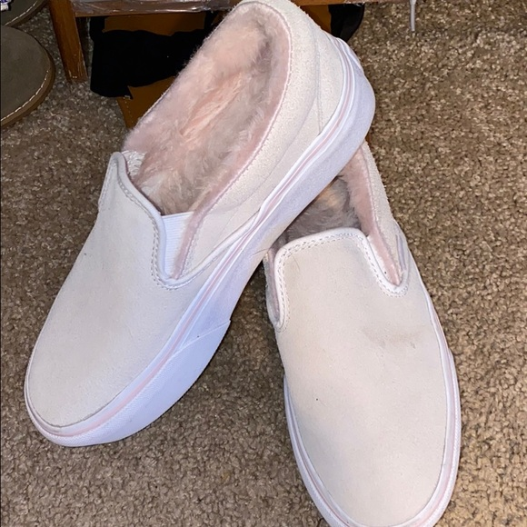 Vans Shoes   Off White Fuzzy Pink